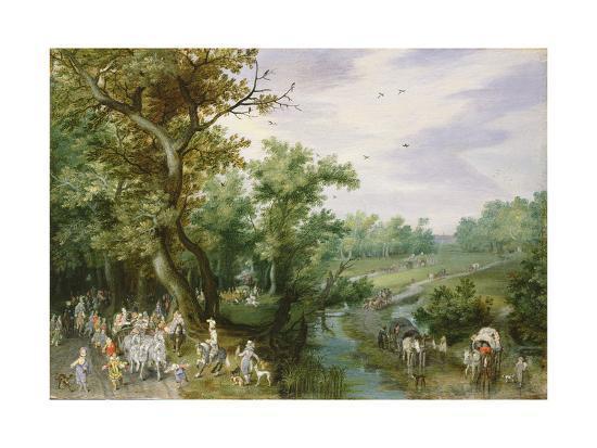 adriaen-pietersz-van-de-venne-autumn-prince-maurits-going-out-hawking-1615