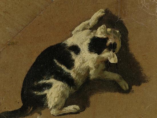 adriaen-van-de-velde-cat-playing