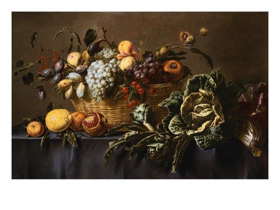 adriaen-van-utrecht-grapes-plums-and-other-fruits-and-nuts-in-a-wicker-basket-with-vegetables-on-a-draped-table