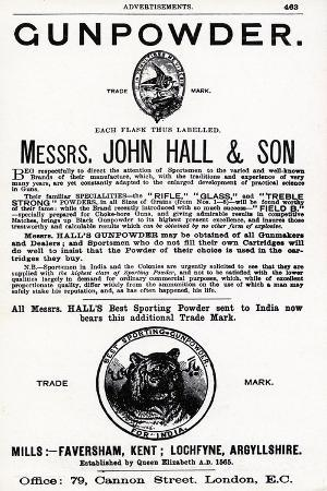 advertisement-for-gunpowder-by-messrs-john-hall-and-son
