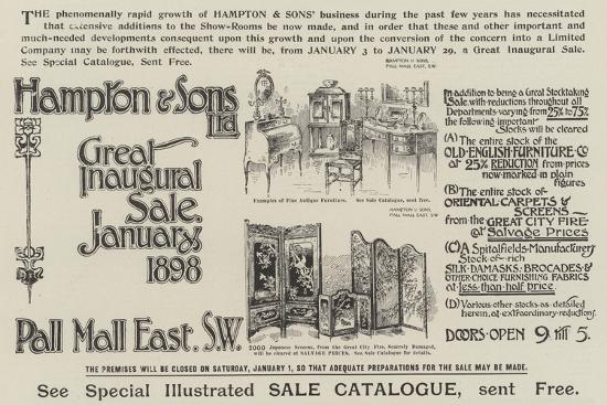 advertisement-hampton-and-sons