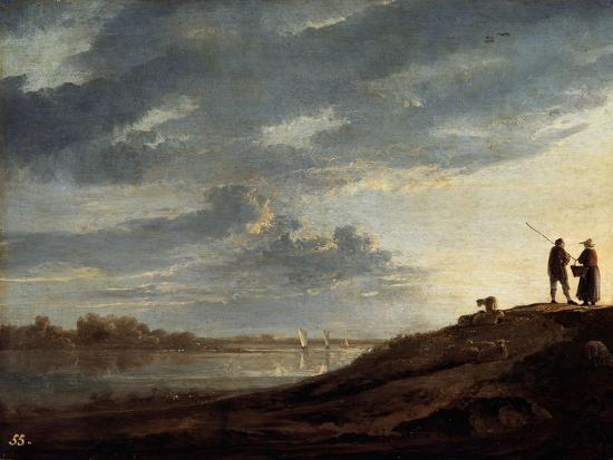 aelbert-cuyp-sunset-over-the-river-1650s