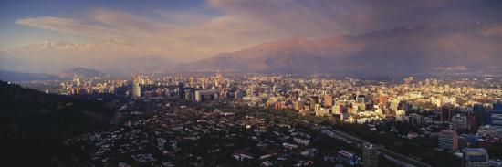 aerial-view-of-a-city-at-dusk-santiago-chile