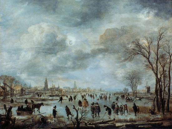 aert-van-der-neer-river-view-in-the-winter-17-century