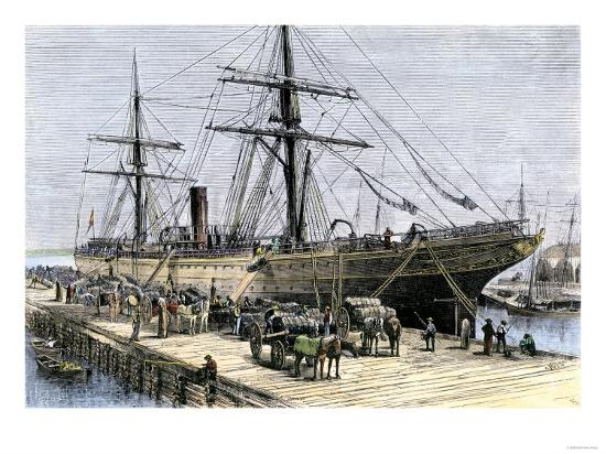african-american-stevedores-loading-cotton-on-a-ship-in-charlestown-south-carolina-c-1870