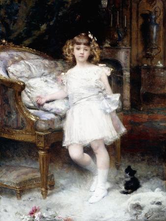 aime-nicolas-morot-portrait-of-janine-potin-with-a-kitten-1904