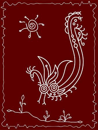 ajay-shrivastava-folk-motif-design-wall-painting
