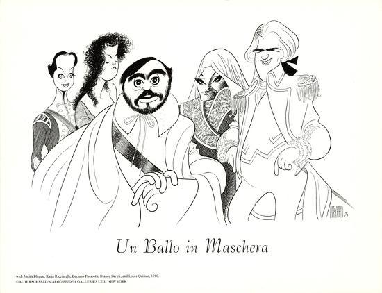 al-hirschfeld-un-ballo-in-maschera-with-pavarotti