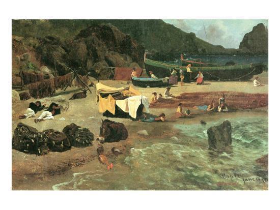 albert-bierstadt-fishing-boats-in-capri