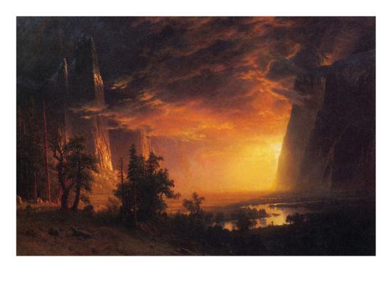 albert-bierstadt-sunrise-in-yosemite-valley