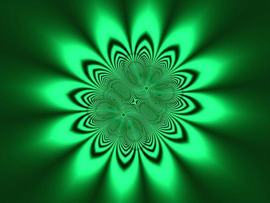 albert-klein-abstract-pattern-on-green-background