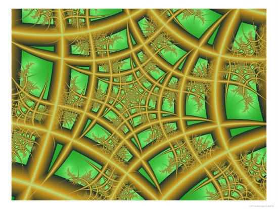 albert-klein-abstract-web-like-fractal-patterns-on-green-background