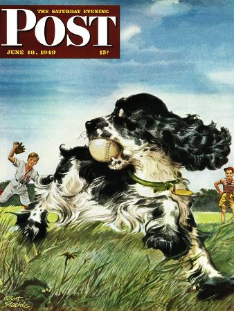 albert-staehle-butch-and-baseball-saturday-evening-post-cover-june-18-1949
