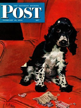 albert-staehle-butch-ate-the-coupons-saturday-evening-post-cover-february-19-1944