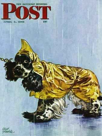 albert-staehle-butch-in-raingear-saturday-evening-post-cover-april-2-1949