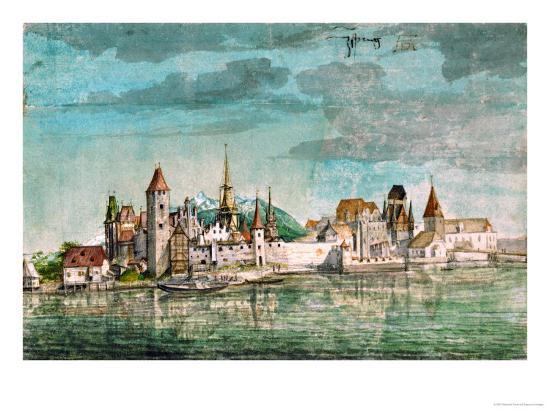 albrecht-duerer-innsbruck-seen-across-the-river-inn-1495