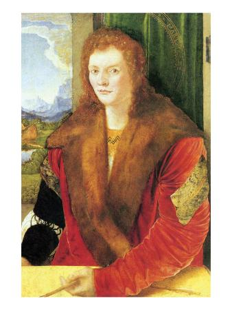 albrecht-duerer-portrait-of-an-unknown-in-red