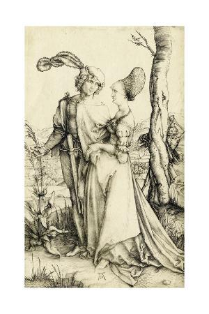 albrecht-duerer-promenade-young-couple-threatened-by-death
