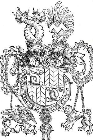 albrecht-duerer-the-coat-of-arms-of-florian-waldauf-1500
