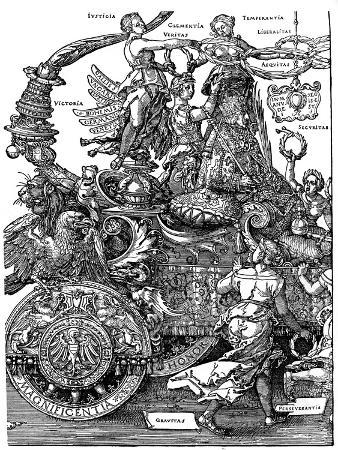 albrecht-durer-triumphal-return-of-maximilian-i-1512-1522