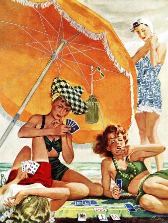 alex-ross-card-game-at-the-beach-august-28-1943
