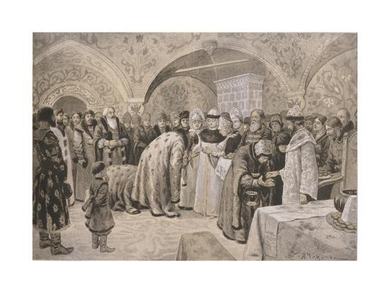 alexander-andreyevich-chikin-welcome-to-the-tsarina-after-the-easter-matins
