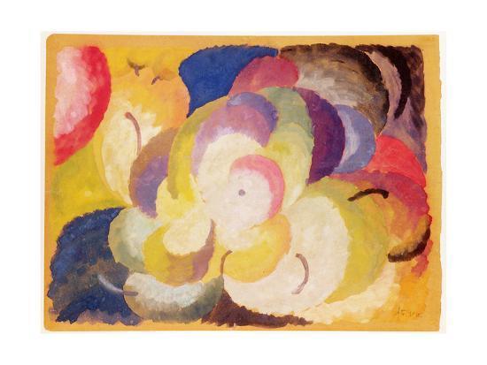 alexander-bogomazov-still-life-with-apples-1915