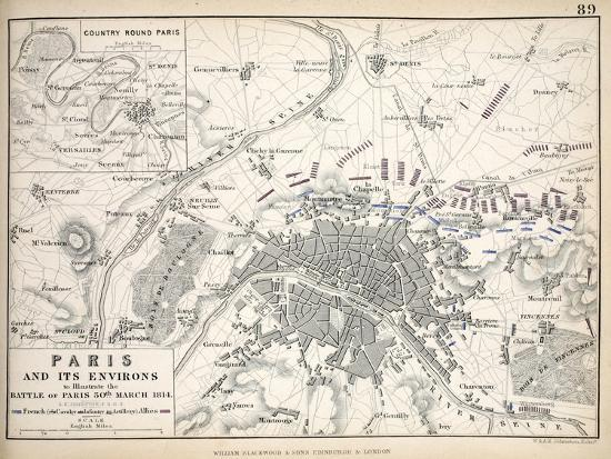 alexander-keith-johnston-paris-and-it-s-environs-to-illustrate-the-battle-of-paris-30th-march-1814-published-c-1830s
