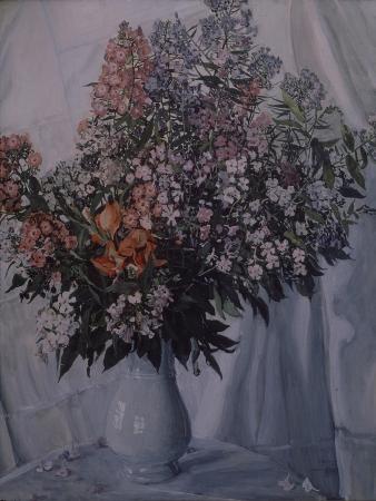 alexander-yakovlevich-golovin-still-life-phloxes-1911