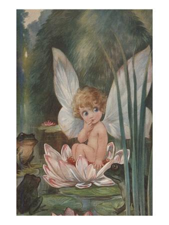 alexandra-day-illustration-of-fairy-on-water-lily-by-fred-spurgin