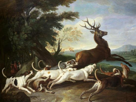 alexandre-francois-desportes-the-deer-hunt-1718