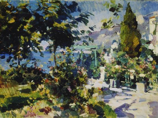 alexejew-konstantin-korovin-terrace-by-the-sea-in-gursuph-1914