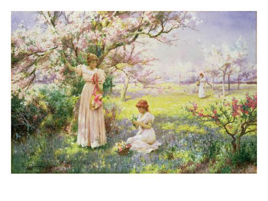 alfred-augustus-glendenning-spring-picking-flowers-1898