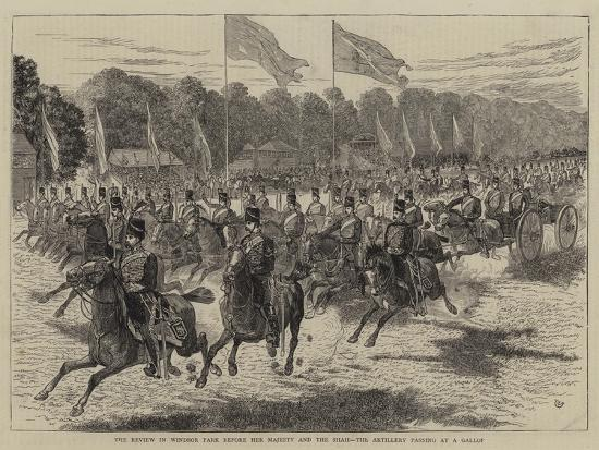 alfred-chantrey-corbould-the-review-in-windsor-park-before-her-majesty-and-the-shah-the-artillery-passing-at-a-gallop