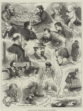 alfred-courbould-sketches-at-the-international-chess-tournament