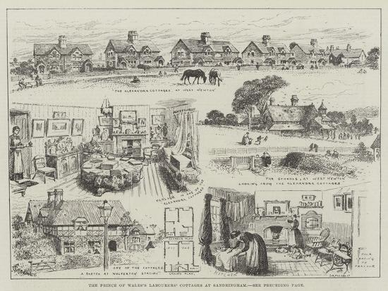 alfred-courbould-the-prince-of-wales-s-labourers-cottages-at-sandringham