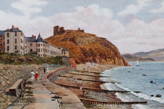 alfred-robert-quinton-marine-terrace-and-castle-criccieth