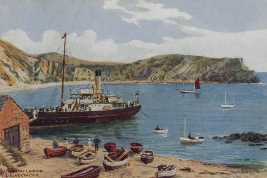 alfred-robert-quinton-steamboat-landing-lulworth-cove