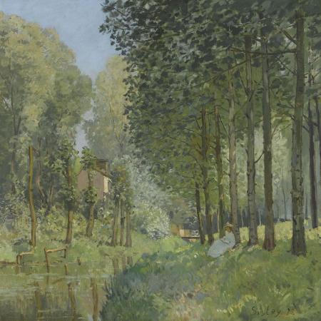alfred-sisley-le-repos-au-bord-du-ruisseau-lisiere-de-bois