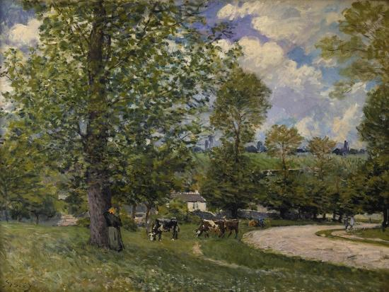 alfred-sisley-pasture-ground-with-cows-near-louveciennes-1874