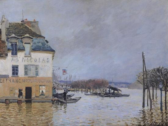 The flood at port marly 1876 giclee print by alfred - Point p port marly ...
