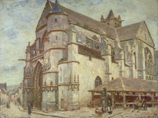 alfred-victor-fournier-the-church-at-moret-frosty-weather-1893