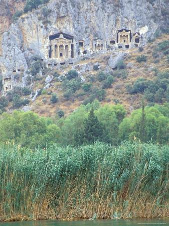 ali-kabas-rock-tombs-of-caunos-dalyan-turkey