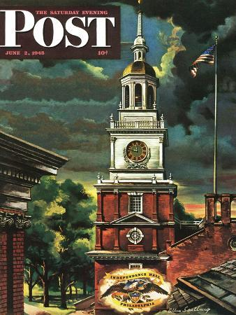 allen-saalburg-independence-hall-philadelphia-pa-saturday-evening-post-cover-june-2-1945