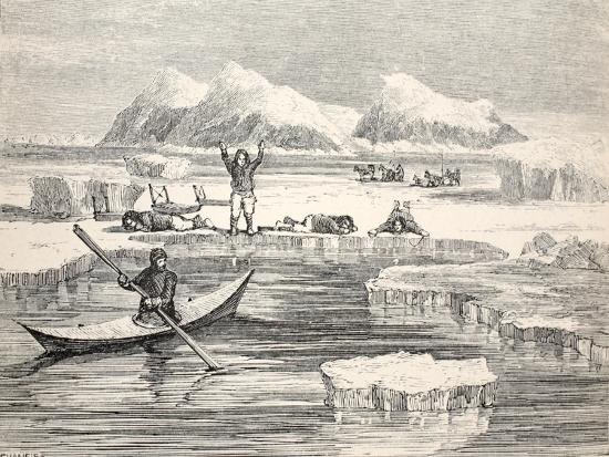 allen-young-eskimos-imitating-animals-to-induce-europeans-to-approach-1859
