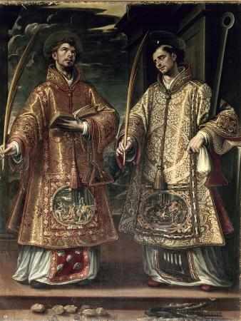 alonso-sanchez-coello-st-lawrence-and-st-stephen-1580
