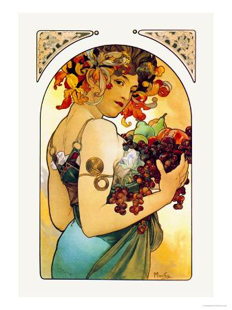 alphonse-mucha-fruit