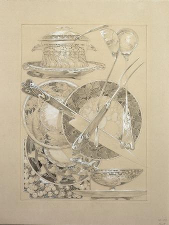 alphonse-mucha-study-for-plate-59-from-documents-decoratifs-1902