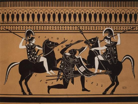 amazons-fighting-engraving-from-greek-vases-conserved-at-leyden-holland-19th-century