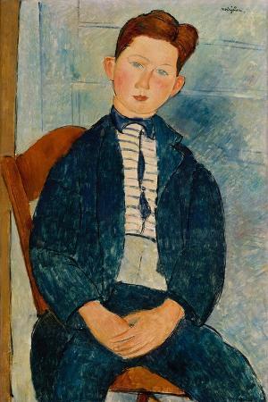 amedeo-modigliani-boy-in-a-striped-sweater-1918